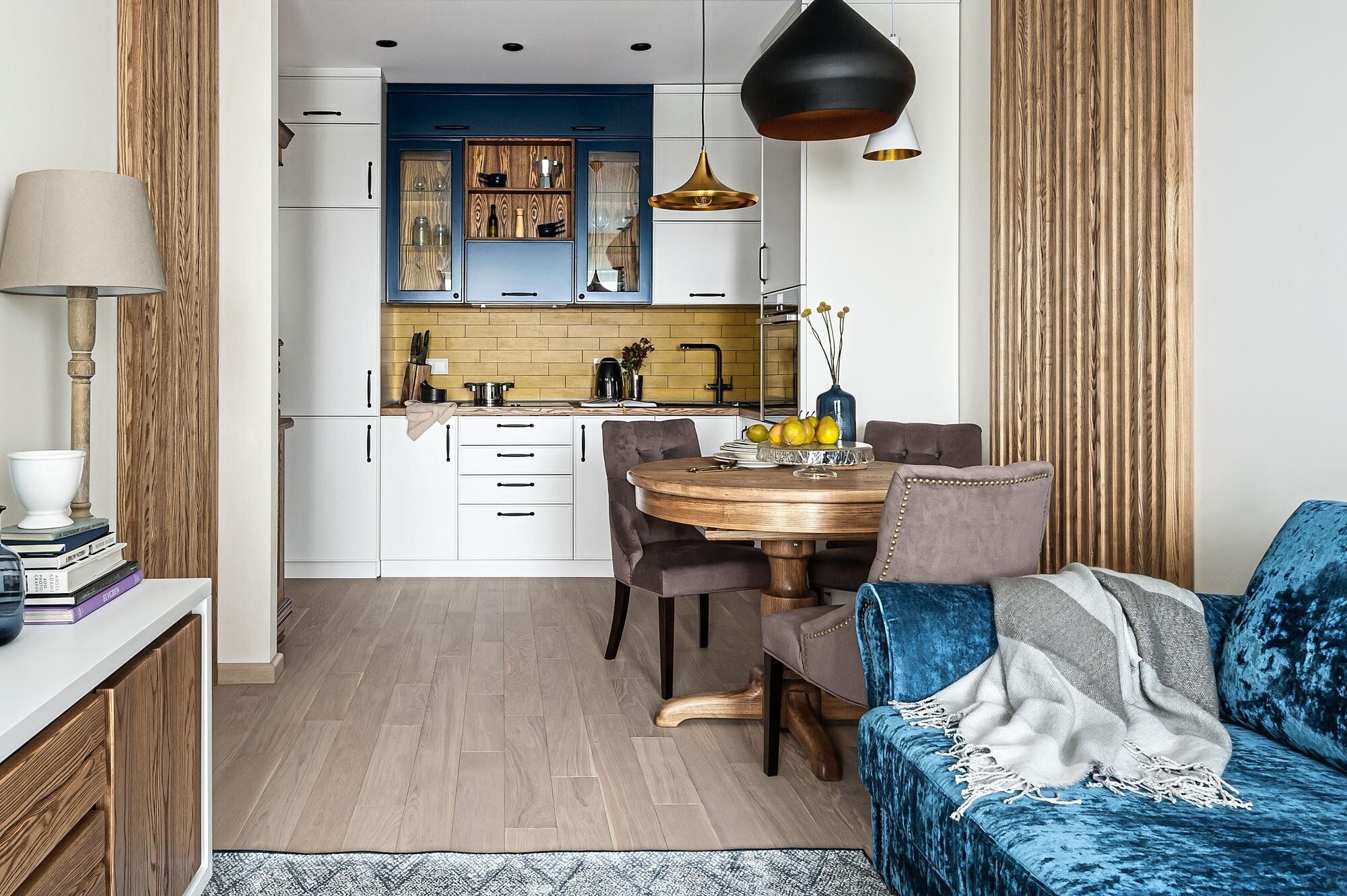 Квартира для путешественников: интерьер, в котором соединились скандинавский стиль, классика и этника