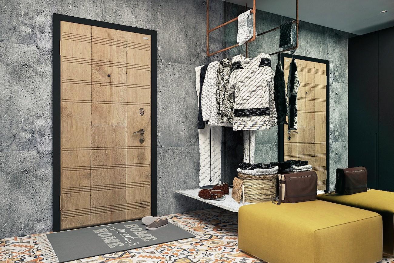 Лофт, в котором стены заменили стеклянной перегородкой и стеллажом