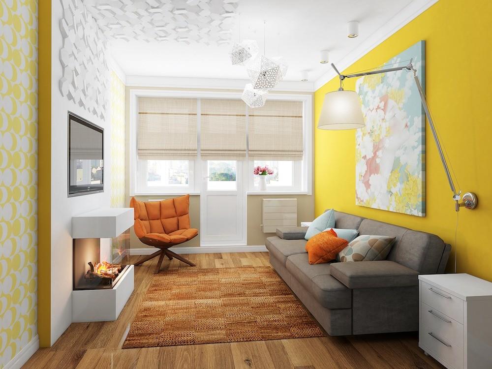 Маленькая солнечная двушка с мебелью из ИКЕА