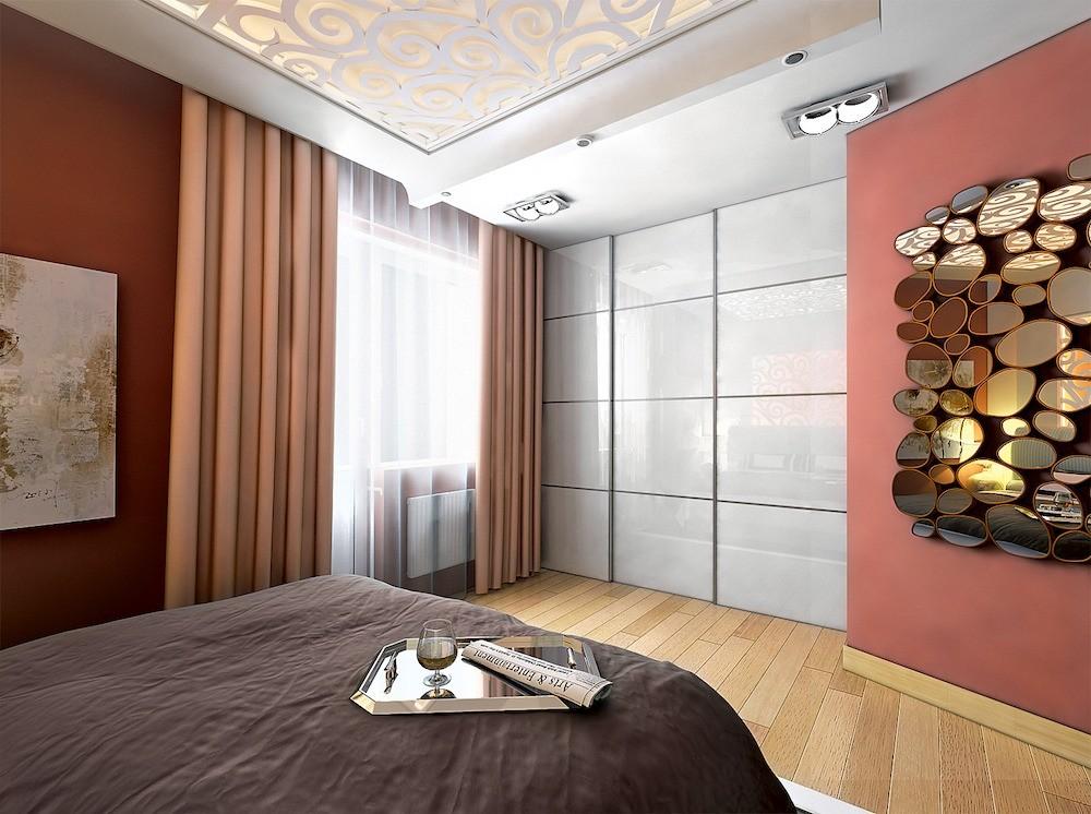 Дизайн маленькой трёшки с кухней-гостиной и просторными спальнями