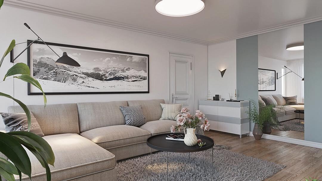 Интерьер гостиной в светлых тонах: правила создания и 55 фото-подсказок