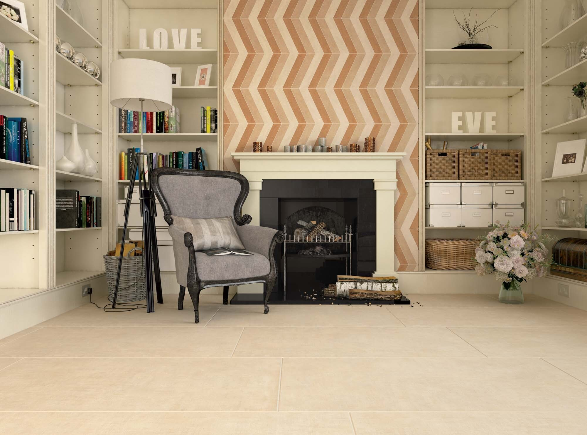 Керамический ковёр в интерьере: 5 вариантов для разных комнат