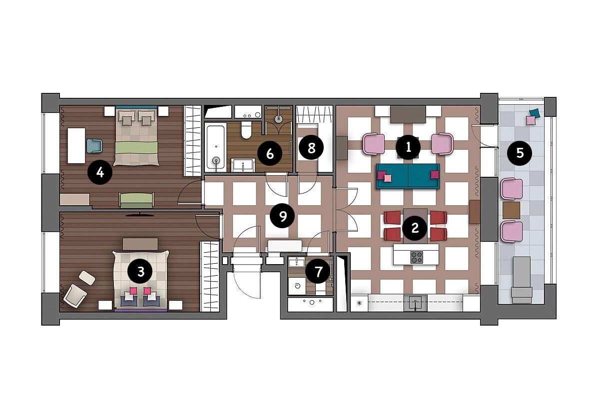 Стильная квартира, в которой уживаются яркость и комфорт