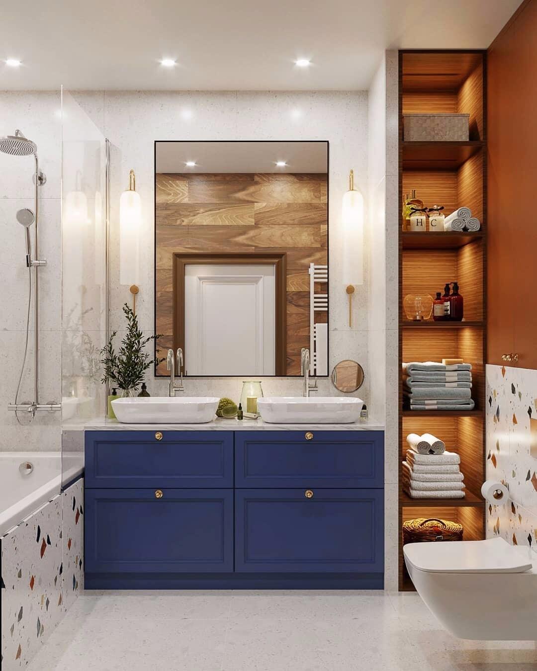 20 интересных деталей для стильных и ярких ванных комнат