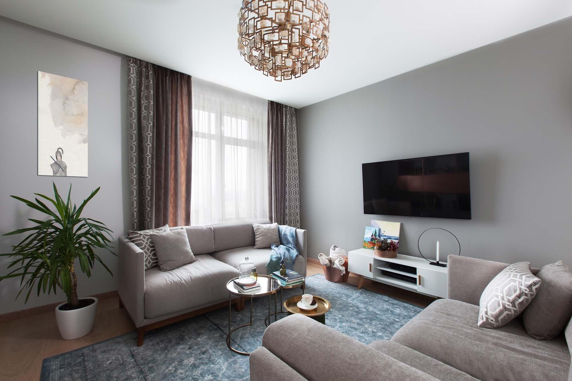Квартира для многодетной семьи: модный, уютный и функциональный интерьер