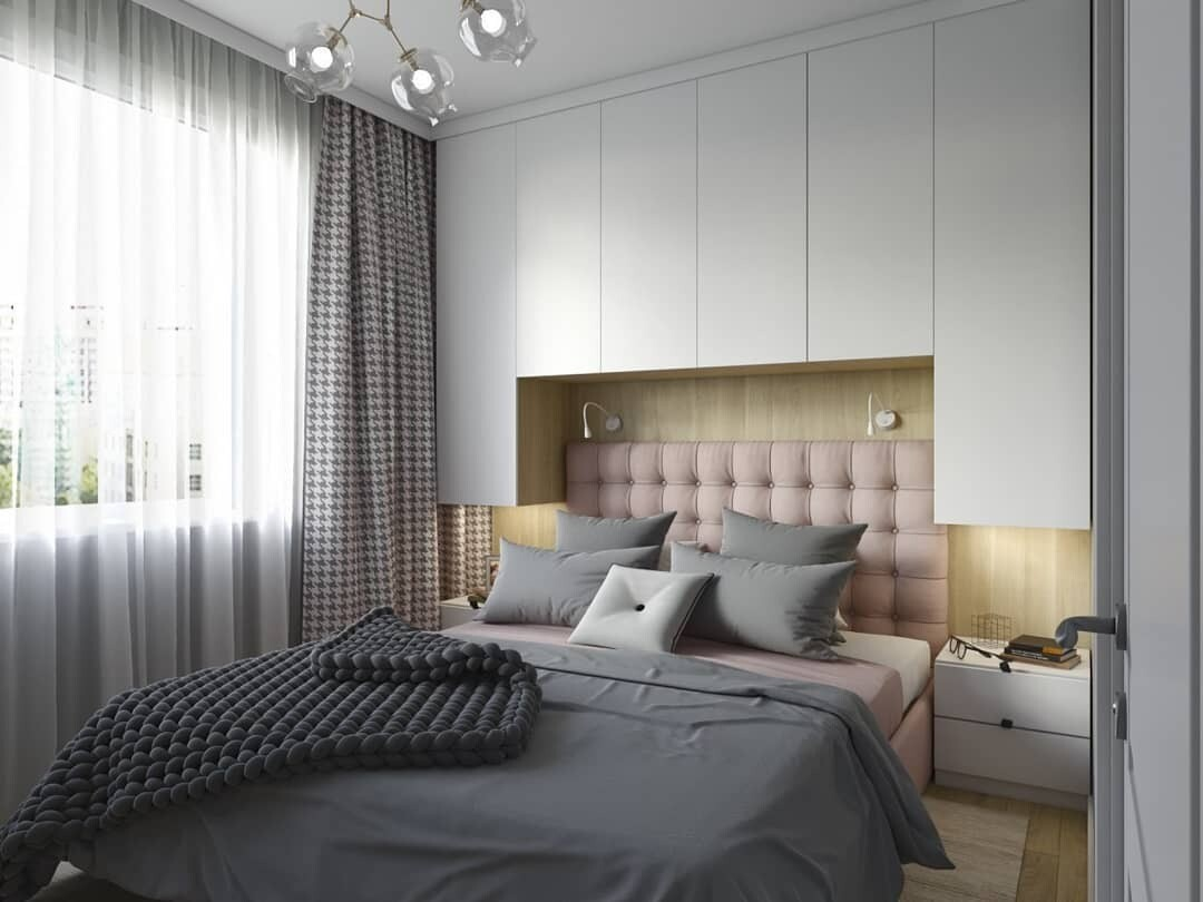 8 идей практичного использования места над изголовьем кровати
