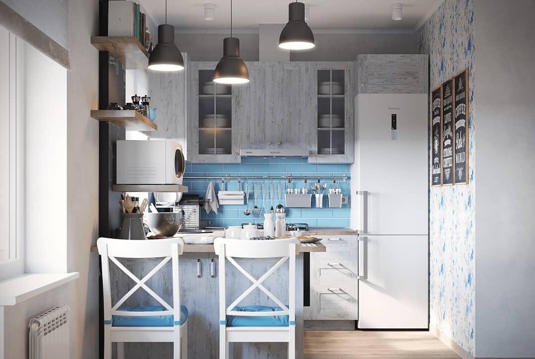 Кухни с барной стойкой: все о расположении, форме конструкции и идеях дизайна