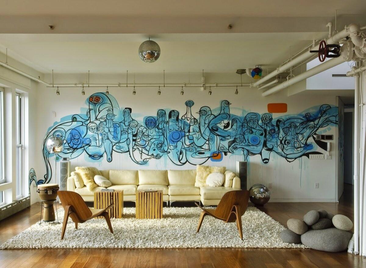 Граффити в квартире: как их использовать и нарисовать самостоятельно