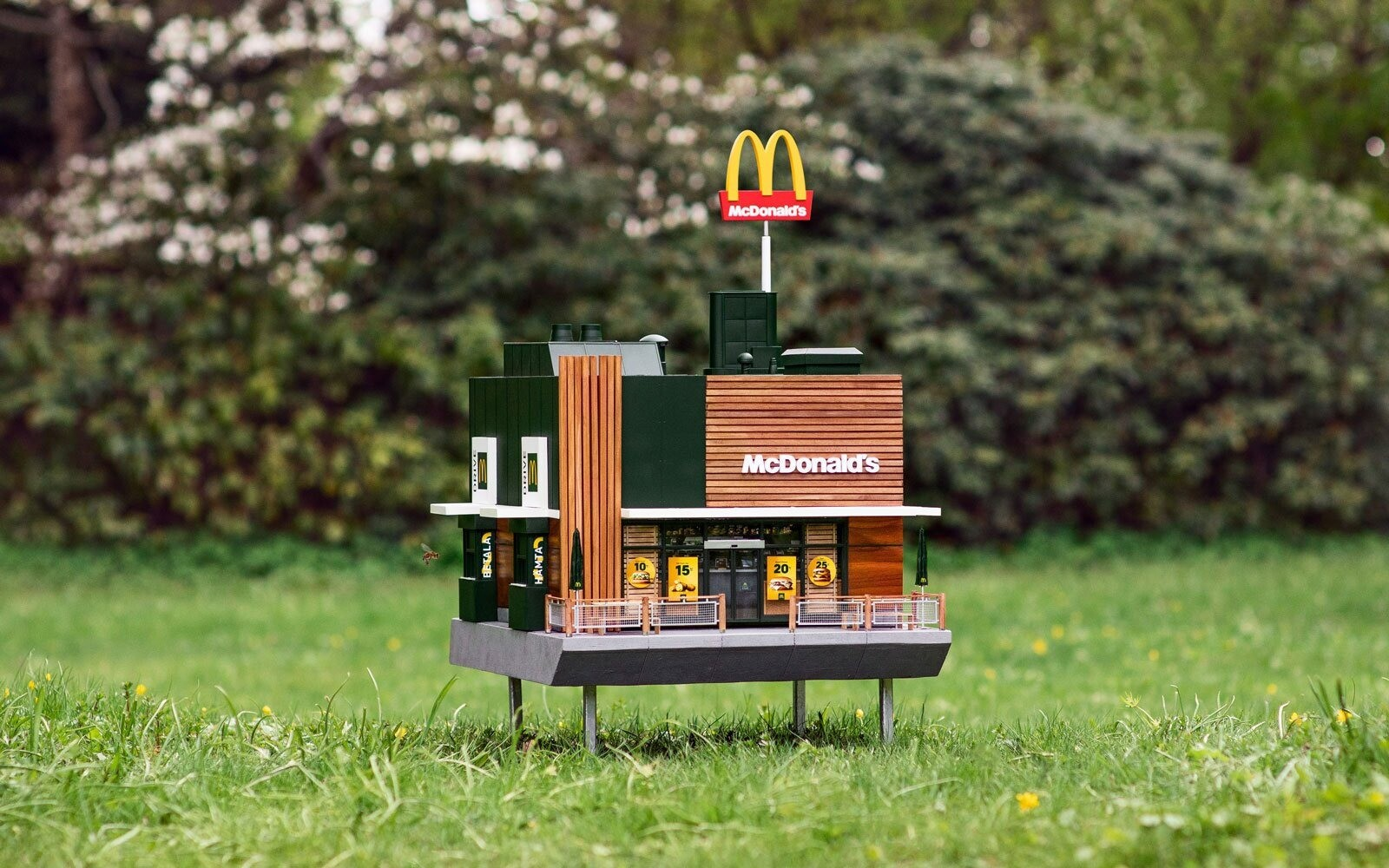 В Швеции открылся самый маленький «Макдоналдс» для... пчел