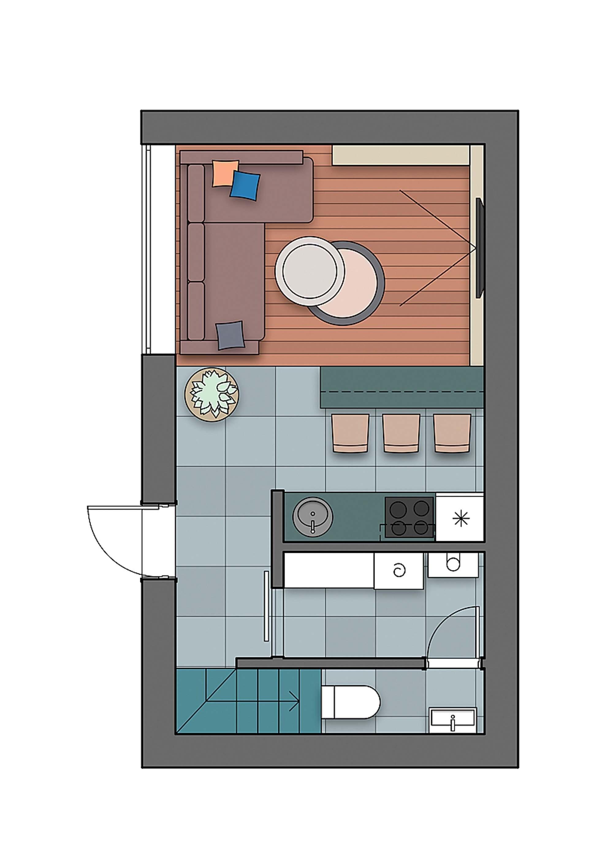 Маленький дом с бюджетным ремонтом для семьи с двумя детьми