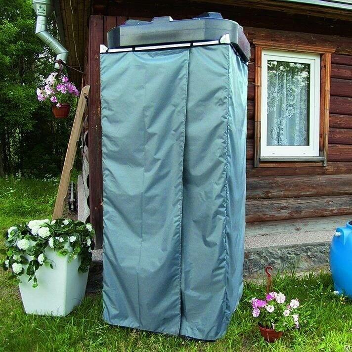 Дачный душ из каркаса с тентом
