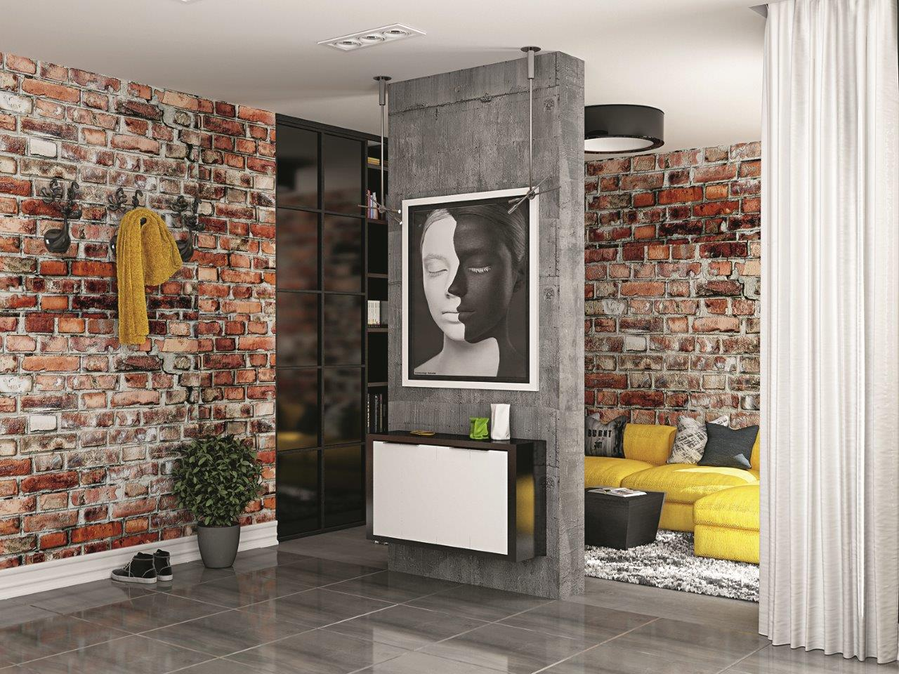 Интерьер в стиле лофт: 20 идей оформления гостиной