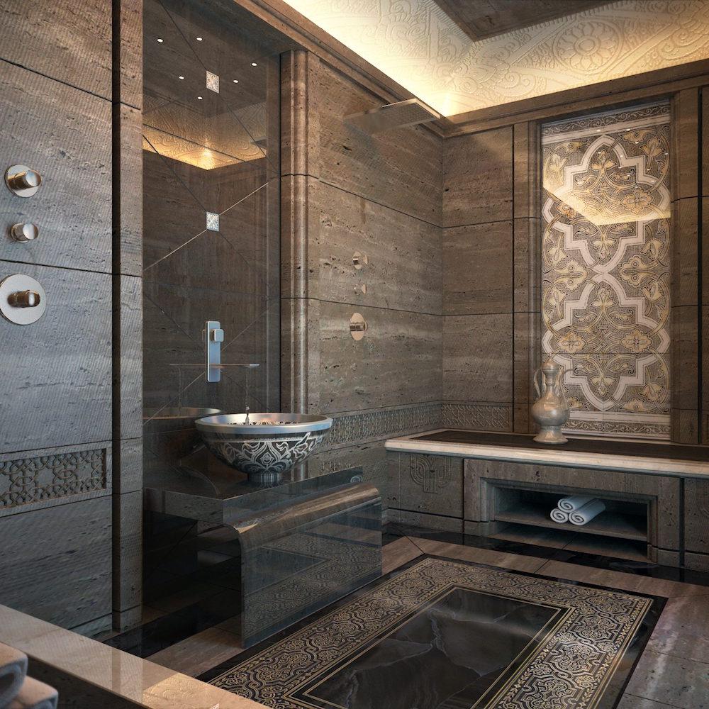 Природная красота в ванной: 7 подходящих стилей для использования мрамора