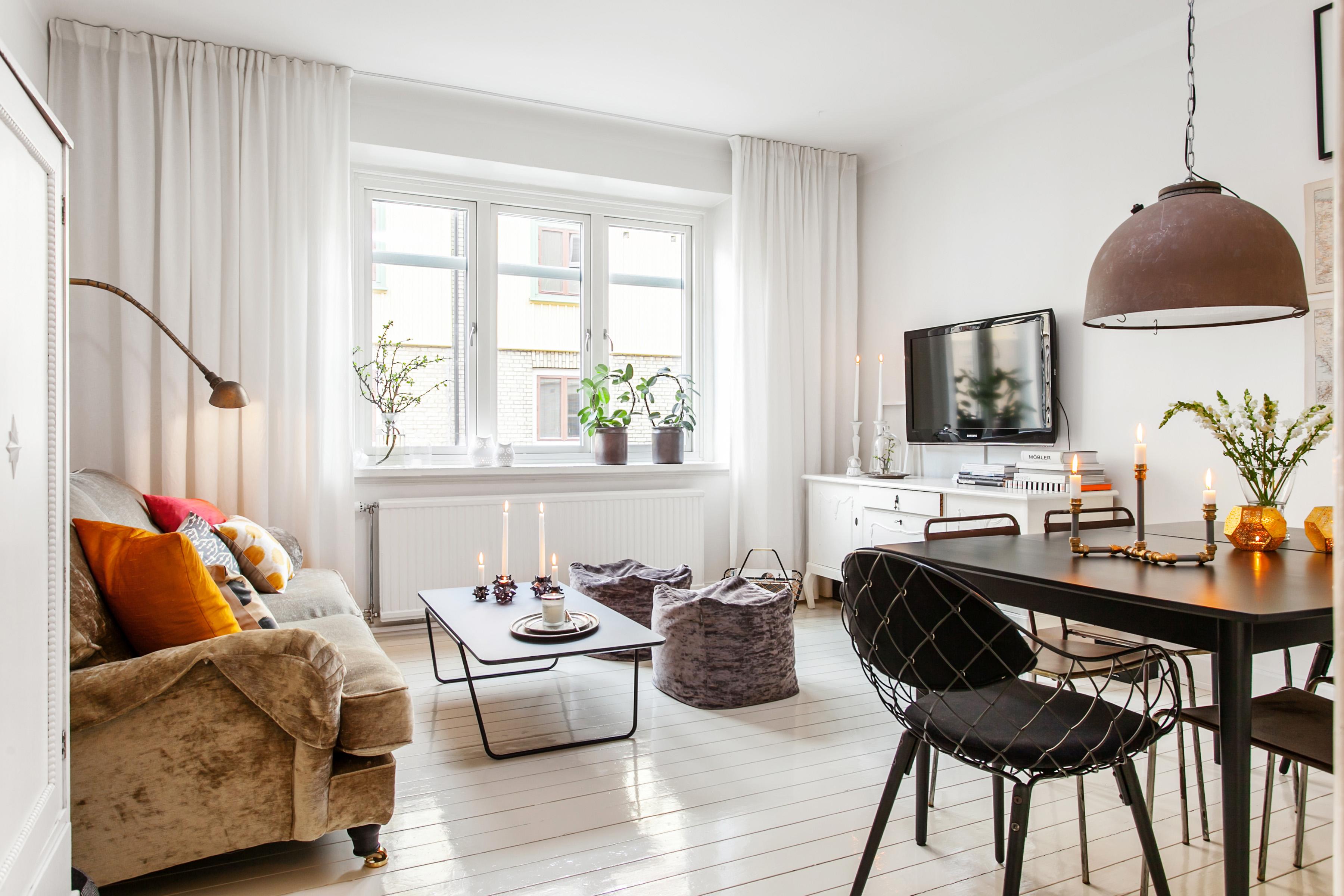 Стиль модерн в небольшой квартире