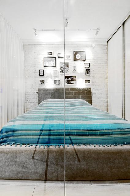 Спальня за стеклом фото