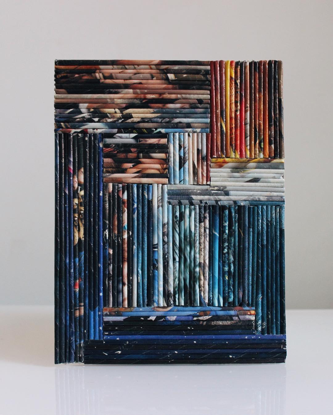 декор дизайн интерьера панно из скрученных трубочек бумаги своими руками фото