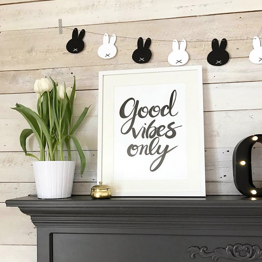 декор интерьера из бумаги вдохновляющий постер своими руками фото
