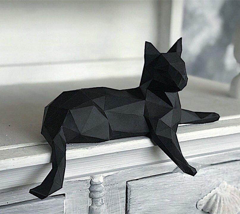 3д полигональные бумажные фигуры декор из бумаги фото