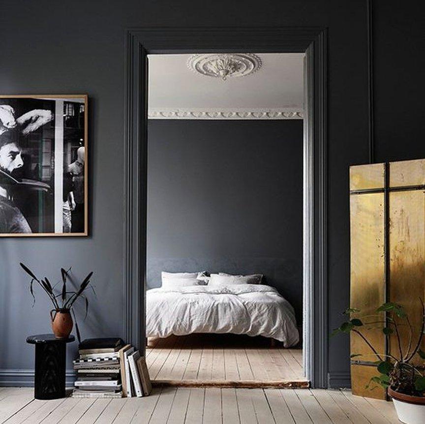 Темные стены и светлый потолок фото