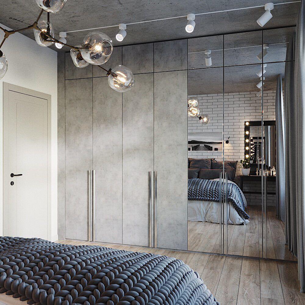 Шкаф с зеркальными дверцами фото