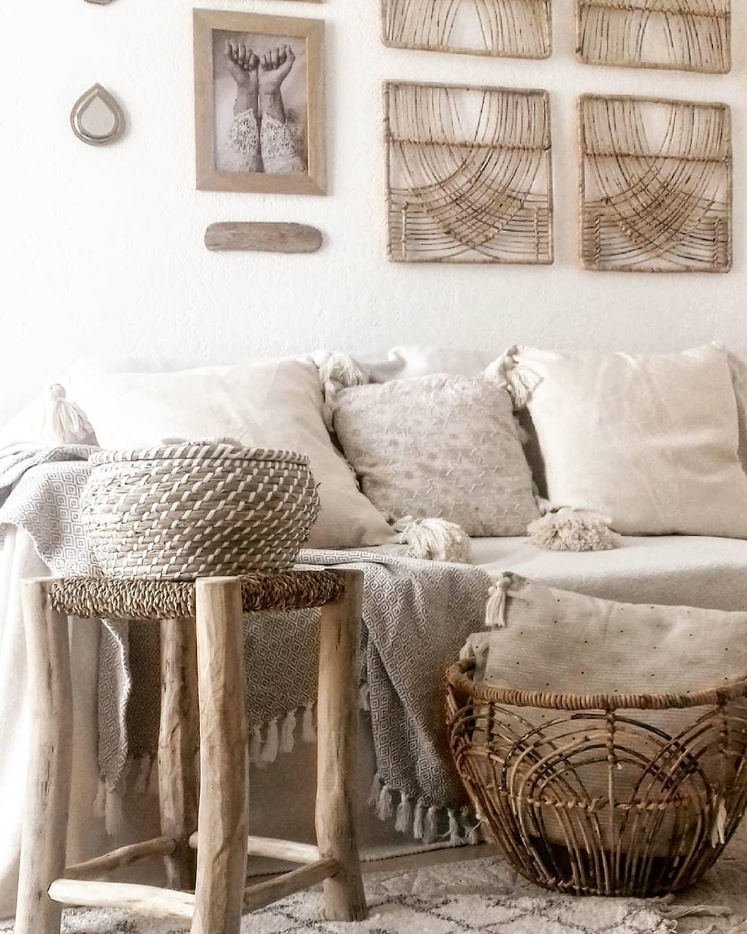 Плетеные и джутовые вещи для декора дачи