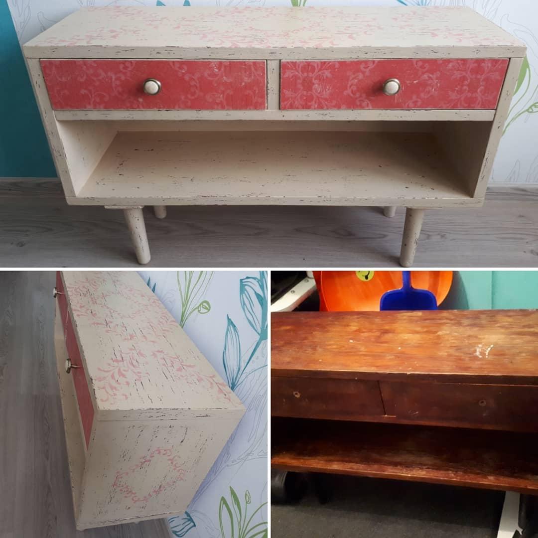 Винтажная восстановленная мебель для украшения дачи