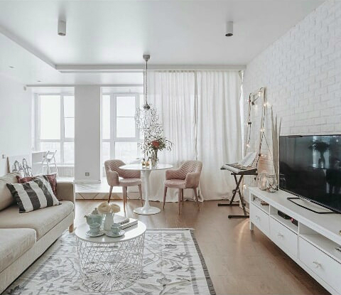 Стильный интерьер гостиной: фото