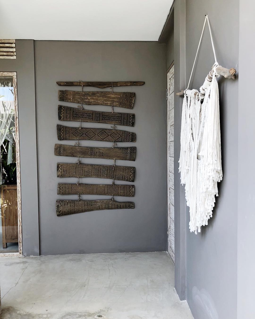 Макраме-декор в интерьере дачи: фото