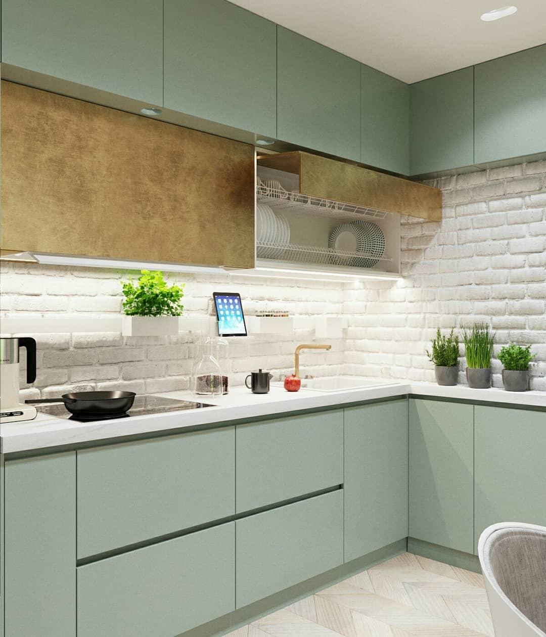 Искусственный камень в отделке кухни