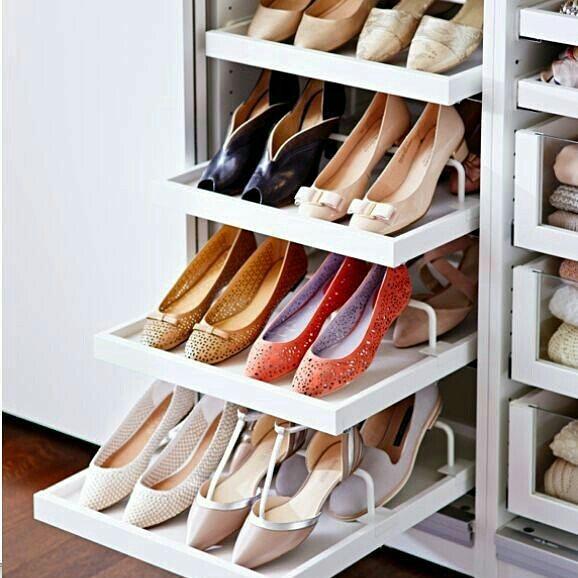 Выдвижные полки для обуви фото