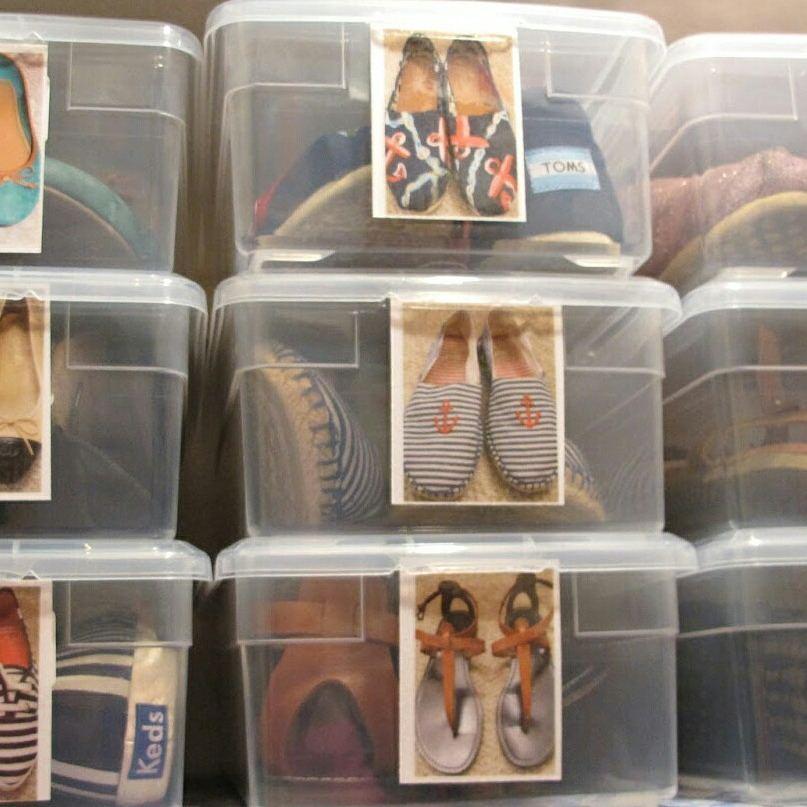 Хранение обуви в коробках на сезон фото