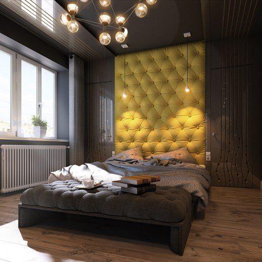 Спальня с ярким дизайном
