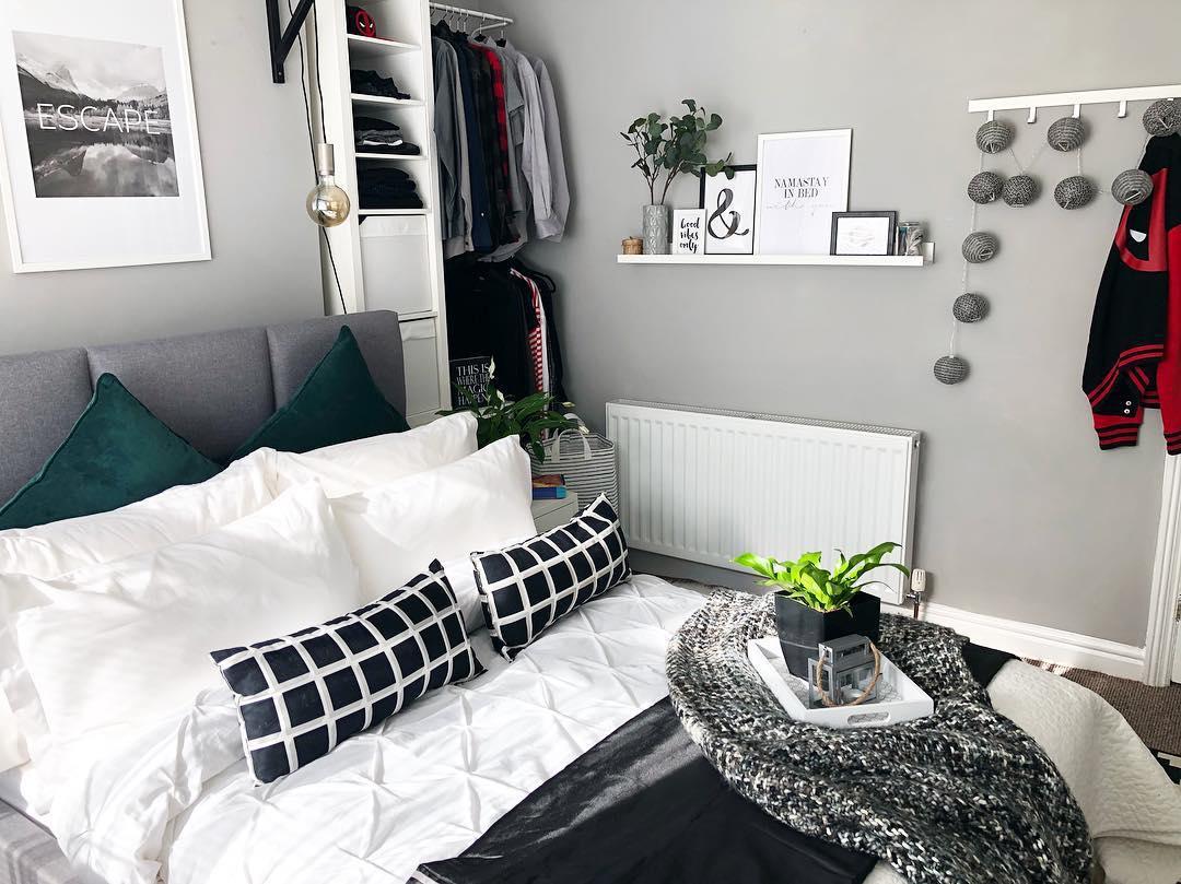 Дизайн спальни в серых тонах: 40 идей для вдохновения