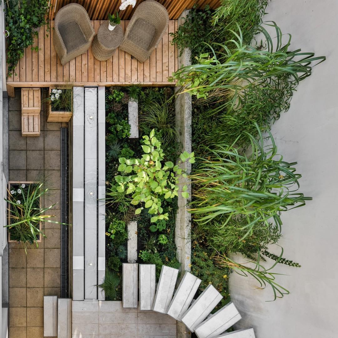 Сад с умным зонированием фото
