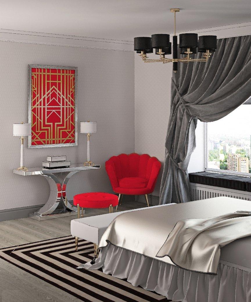 Красно-серый интерьер: фото