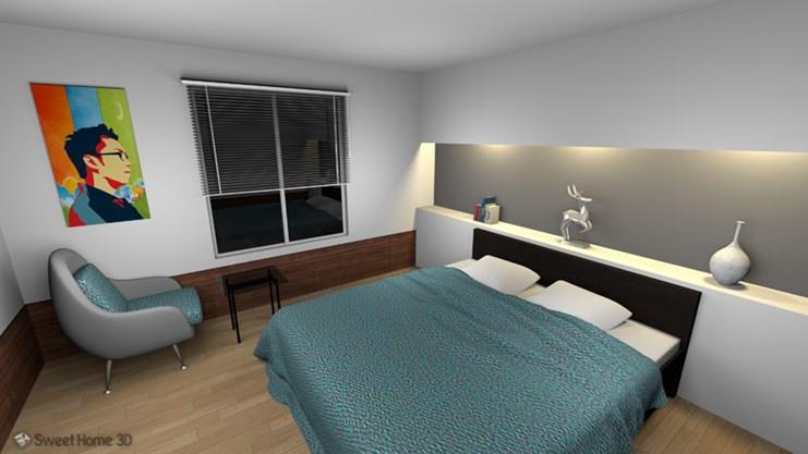 Спроектированная спальня