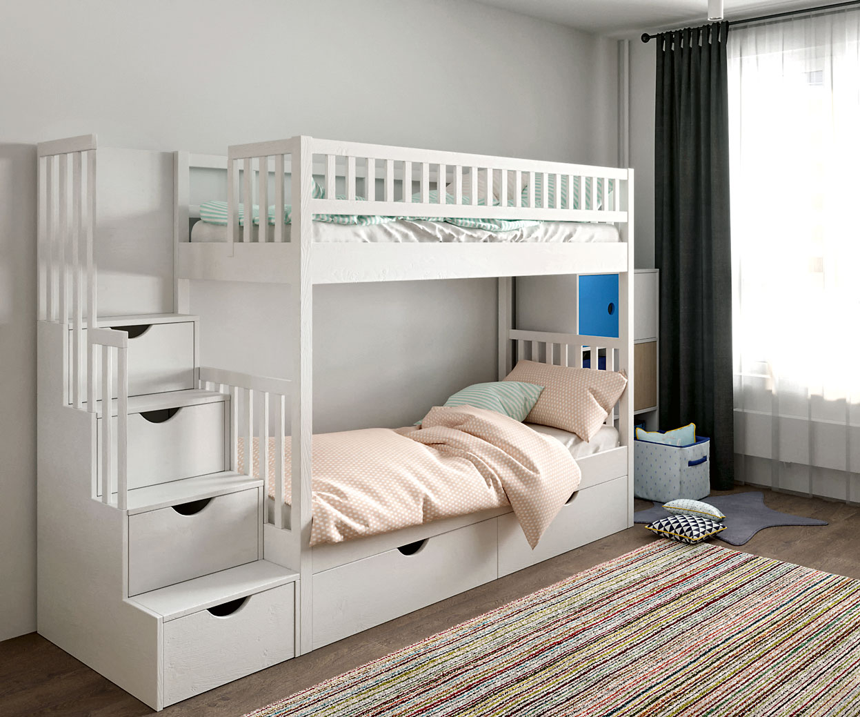 белая двухъярусная кровать фото рано увидели