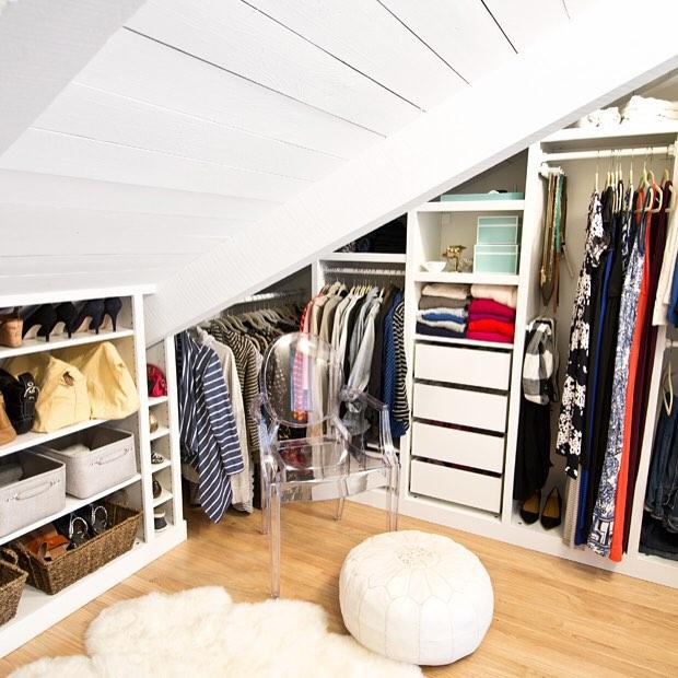 Нестандартное помещение для гардеробной фото