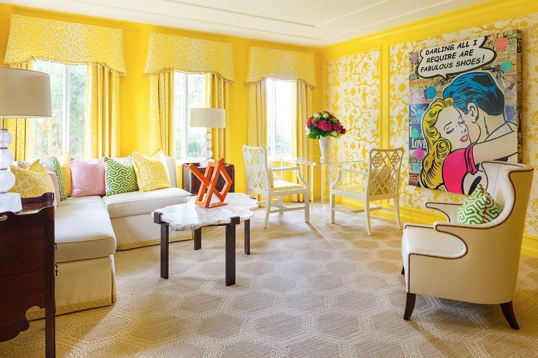 Комната с преобладающим желтым