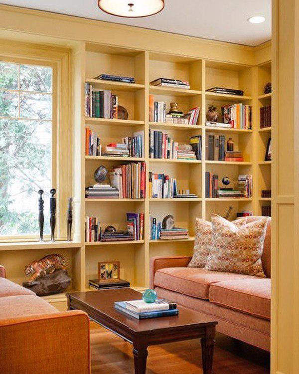 Уютная комната в оттенках желтого