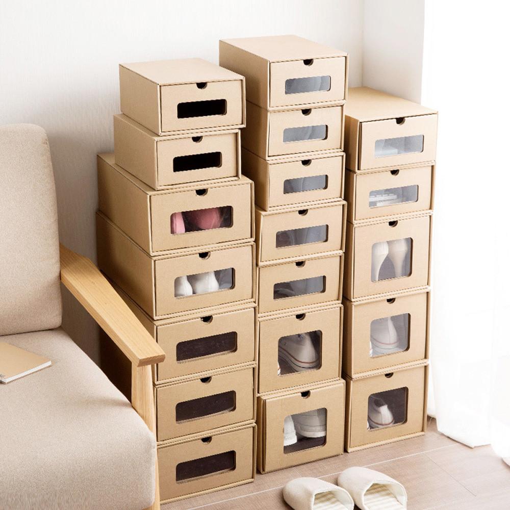 Стеллаж из картонных коробок