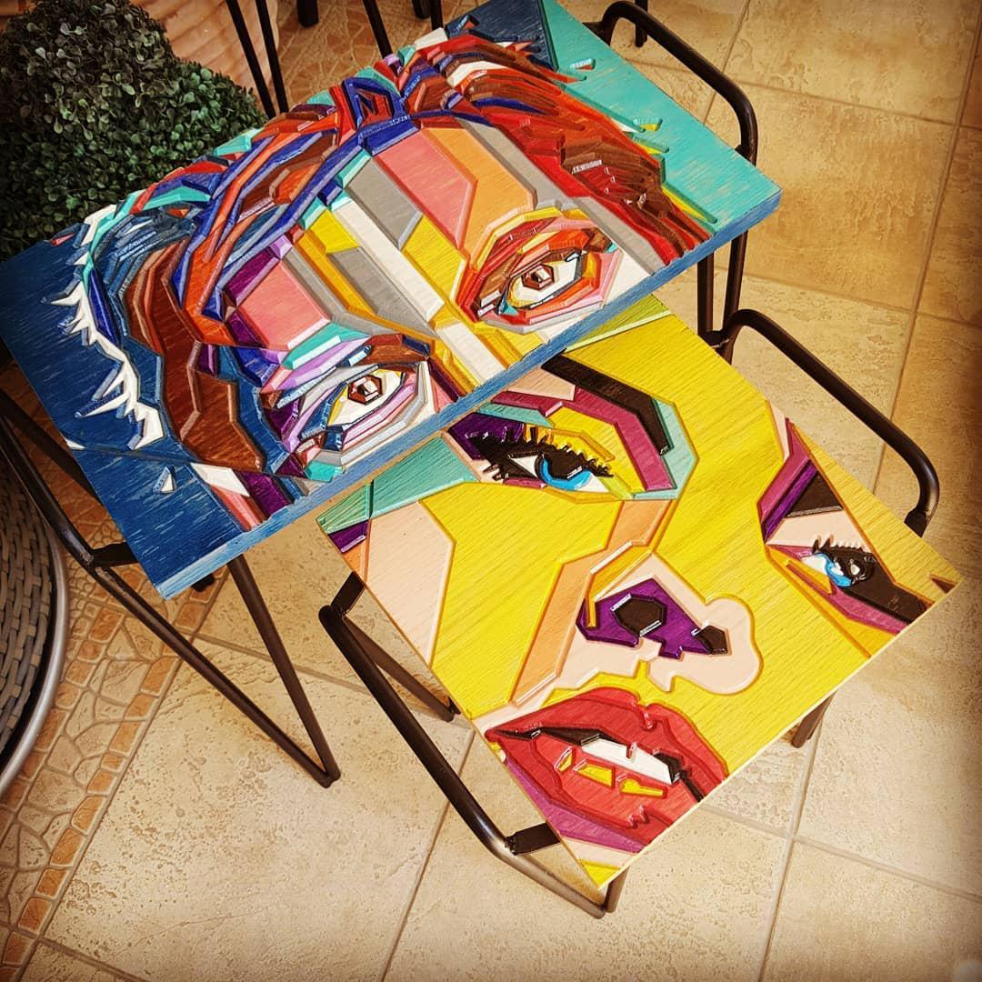 Стол в стиле поп-арт