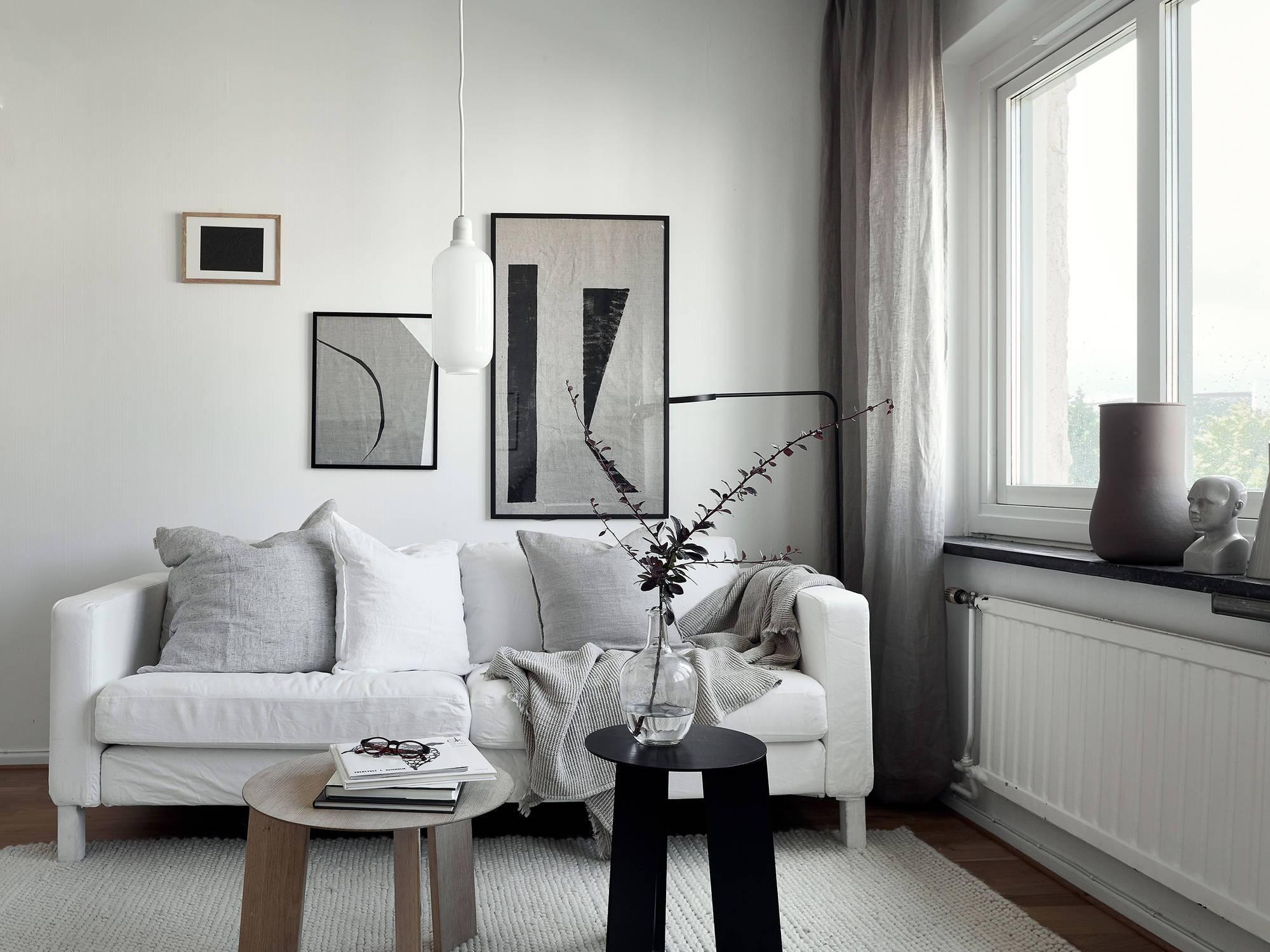 Стильный дизайн комнаты с несколькими функциями и зонами: фото