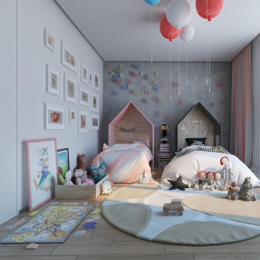 Детская для разнополых детей: фото, идея, дизайн