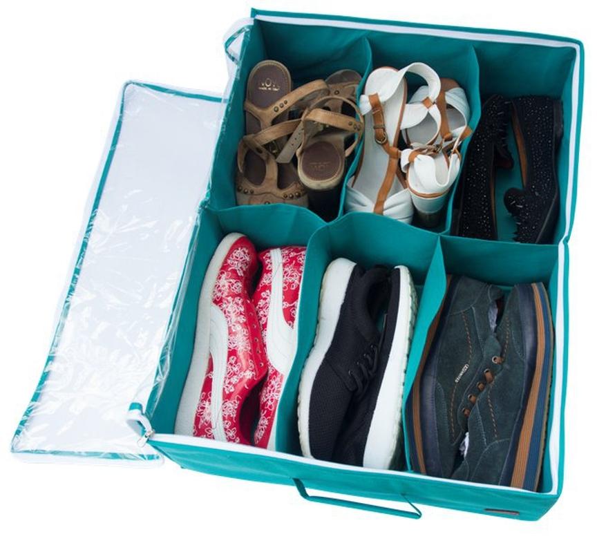 Обувь в органайзере фото