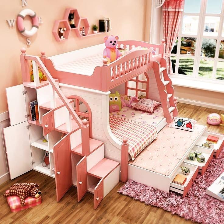 Детские двухъярусные кровати: