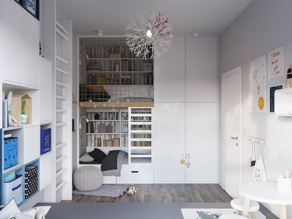 Белая квартира на набережной Москвы-реки
